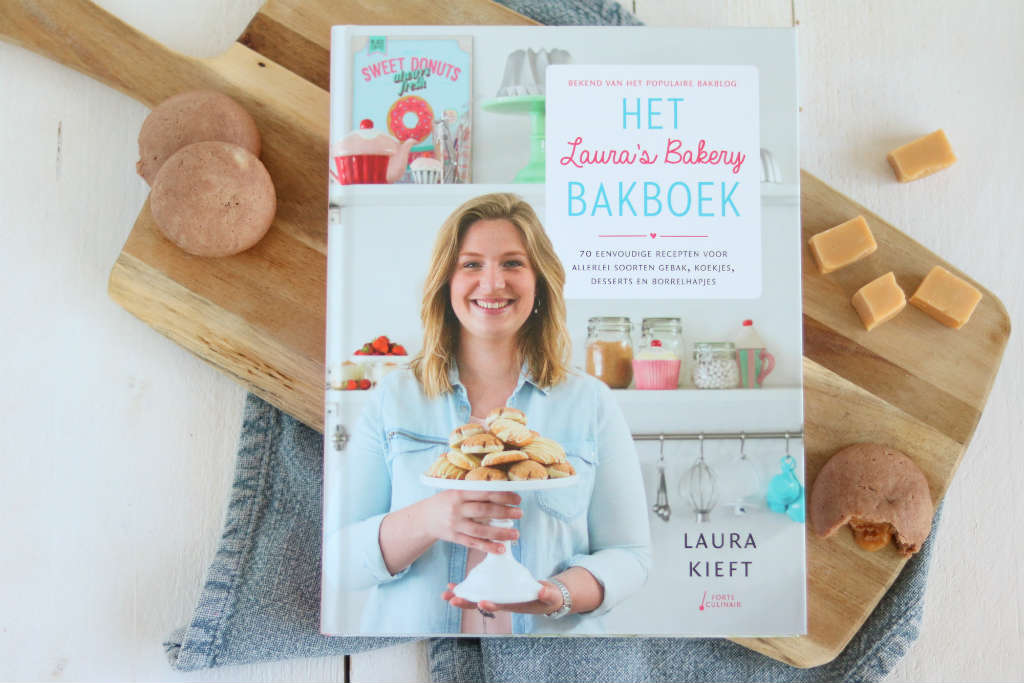 Fudge koeken met chocolade uit Laura's Bakery Bakboek