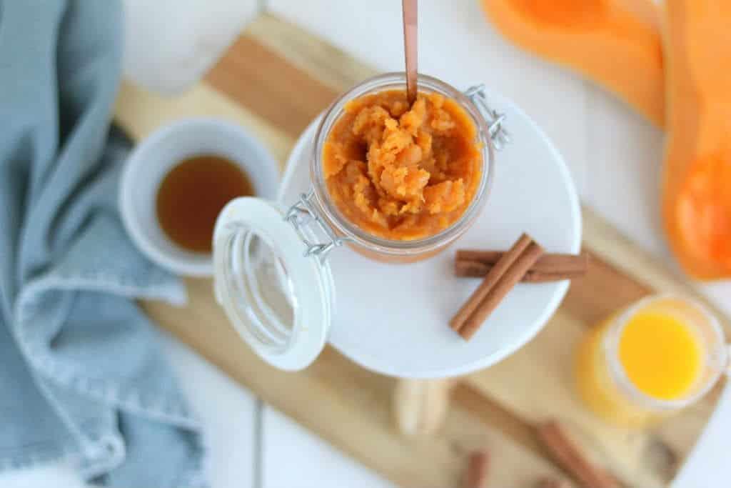 Zoete pompoenpuree maken