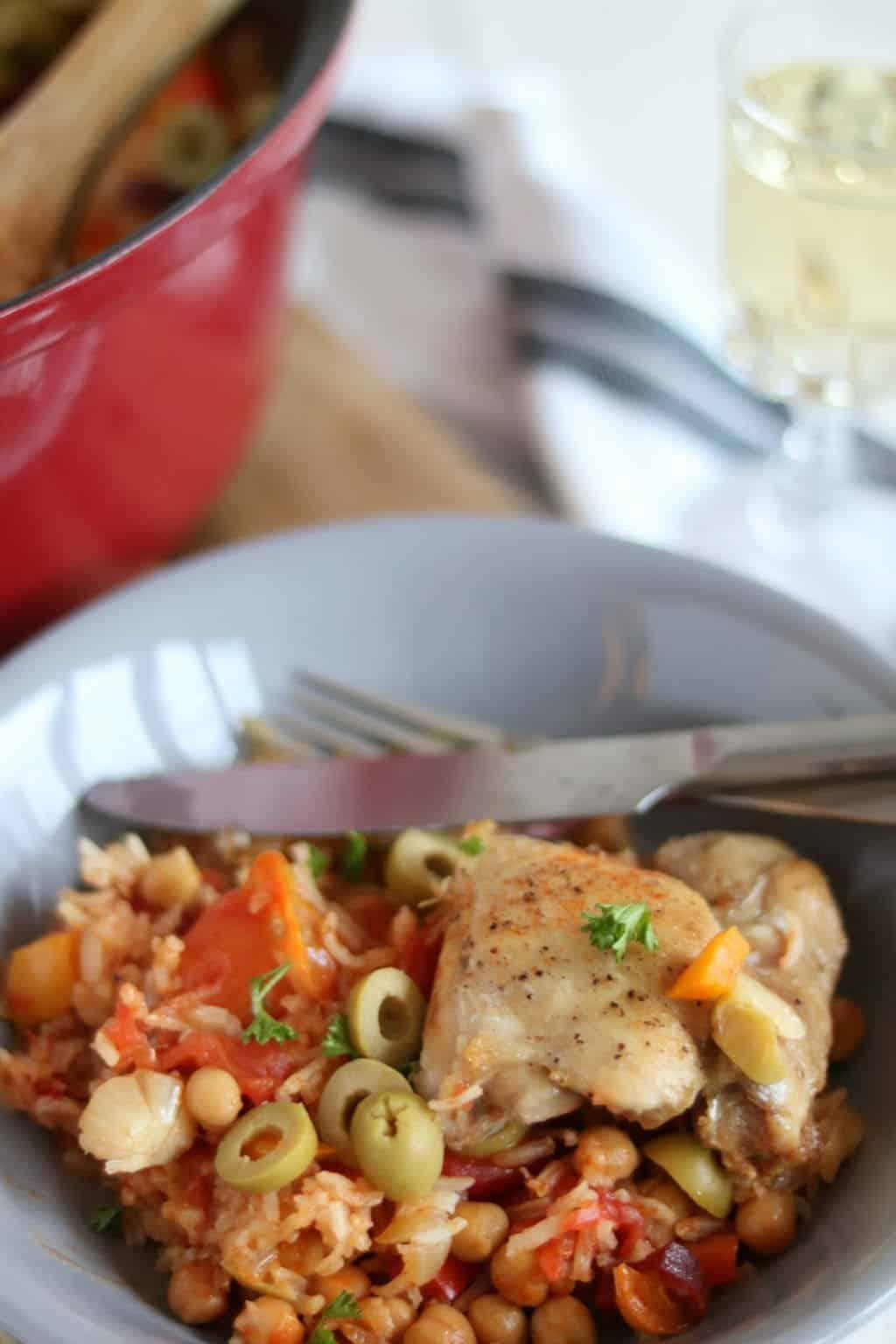 Spaanse Kip Met Rijst Uit De Oven Lekker Eten Met Linda