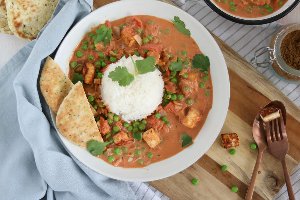 Vegetarische curry met paneer