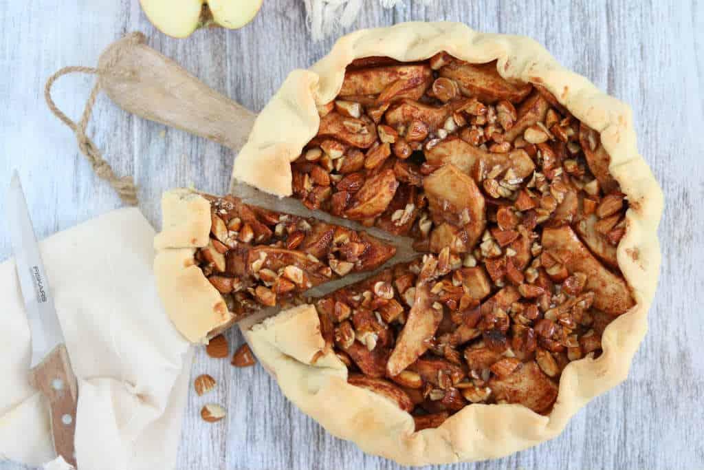Speculaas appel galette met amandel crunch