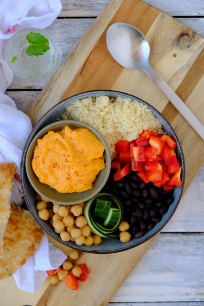 Hummus bowl in 10 minuten