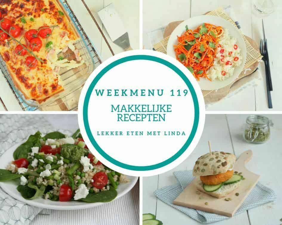Weekmenu 119 makkelijke recepten