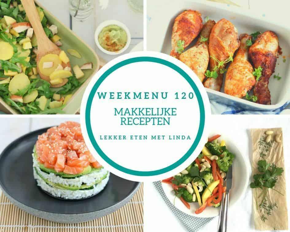 Weekmenu 120 makkelijke recepten