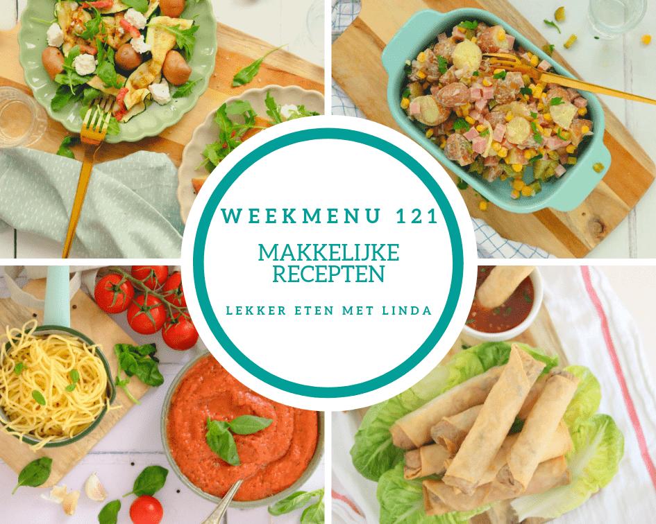 Weekmenu 121 makkelijke recepten