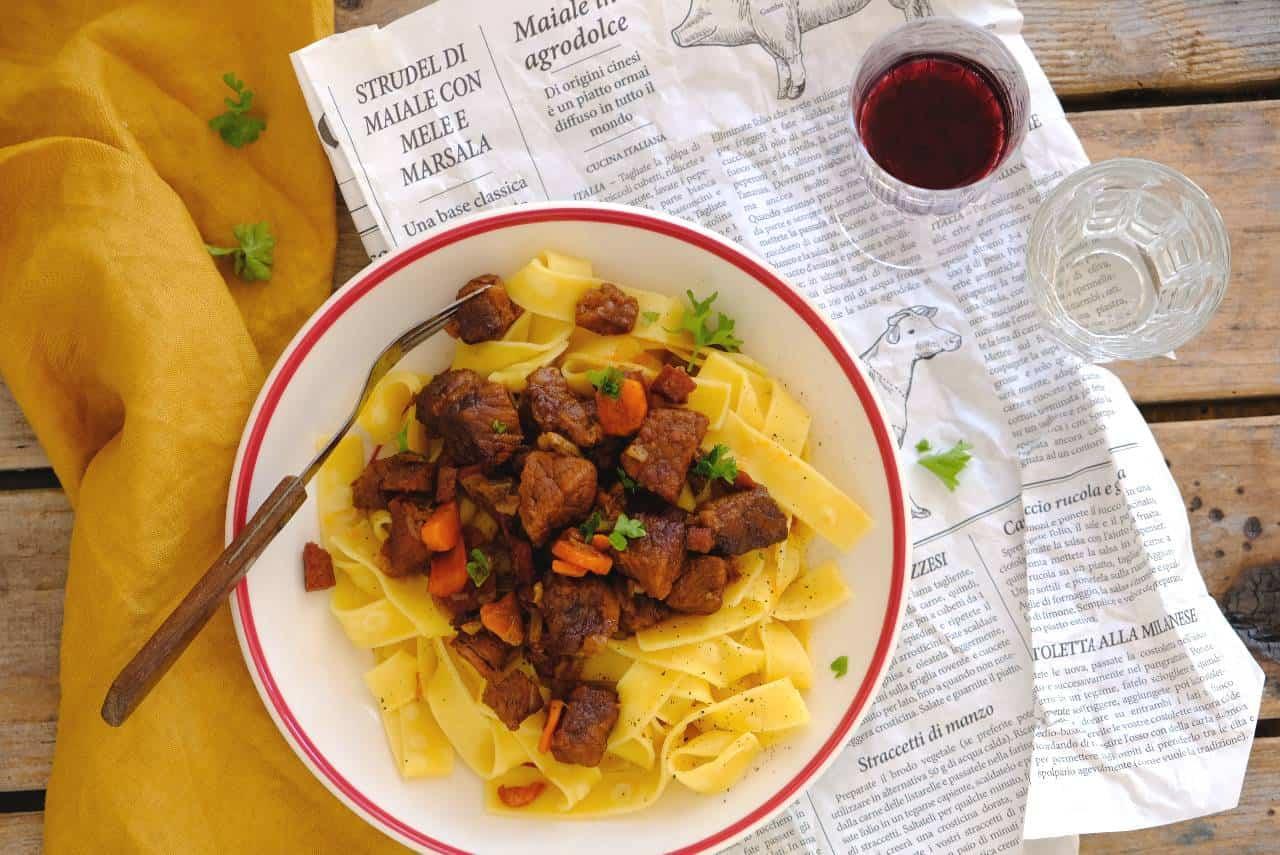 Pappardelle met Italiaans stoofvlees