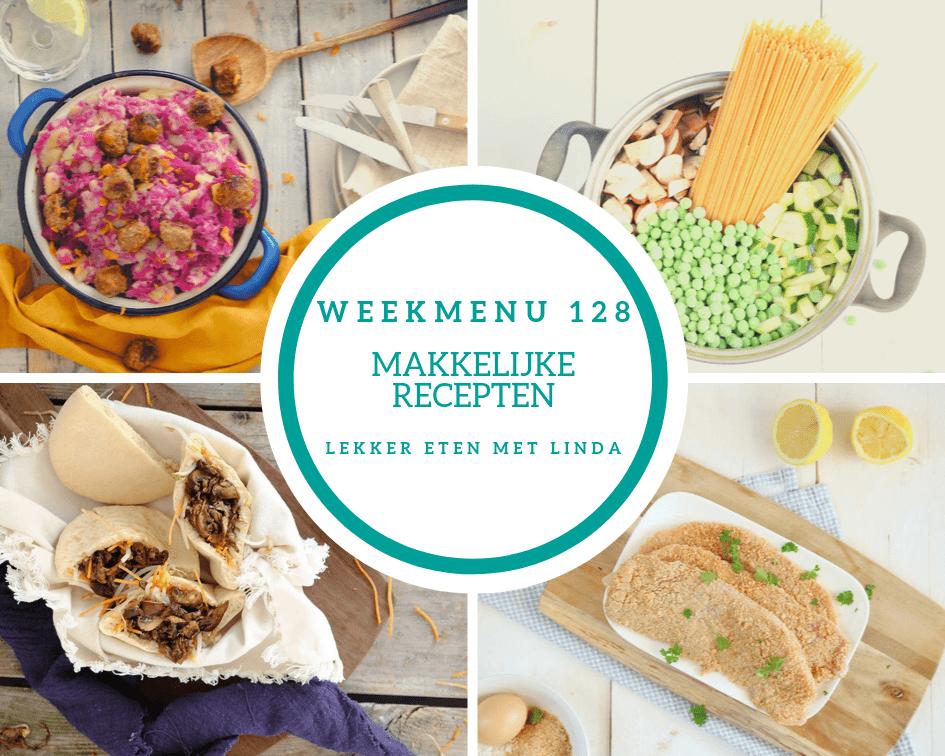 Weekmenu 128 makkelijke recepten voor het hele gezin