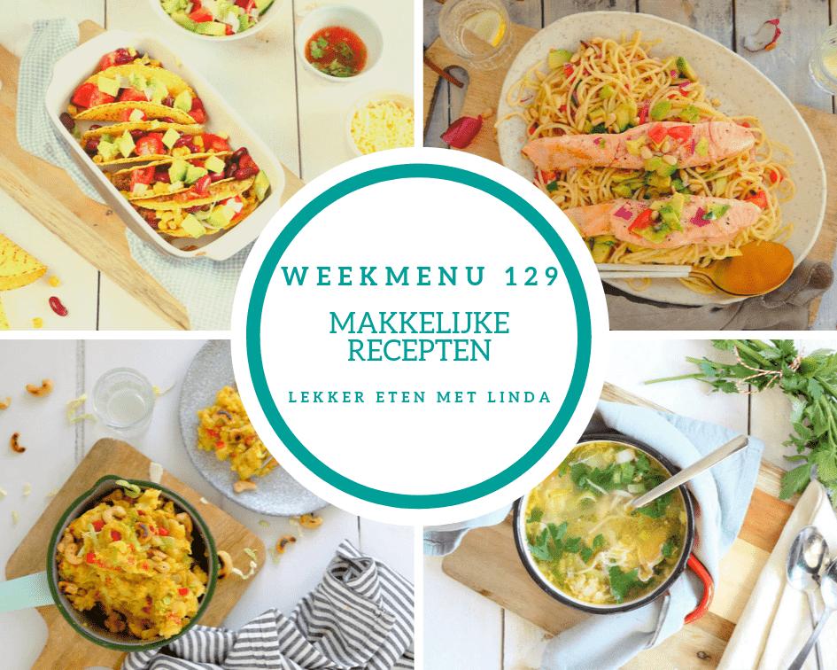 Weekmenu 129 makkelijke recepten voor het hele gezin