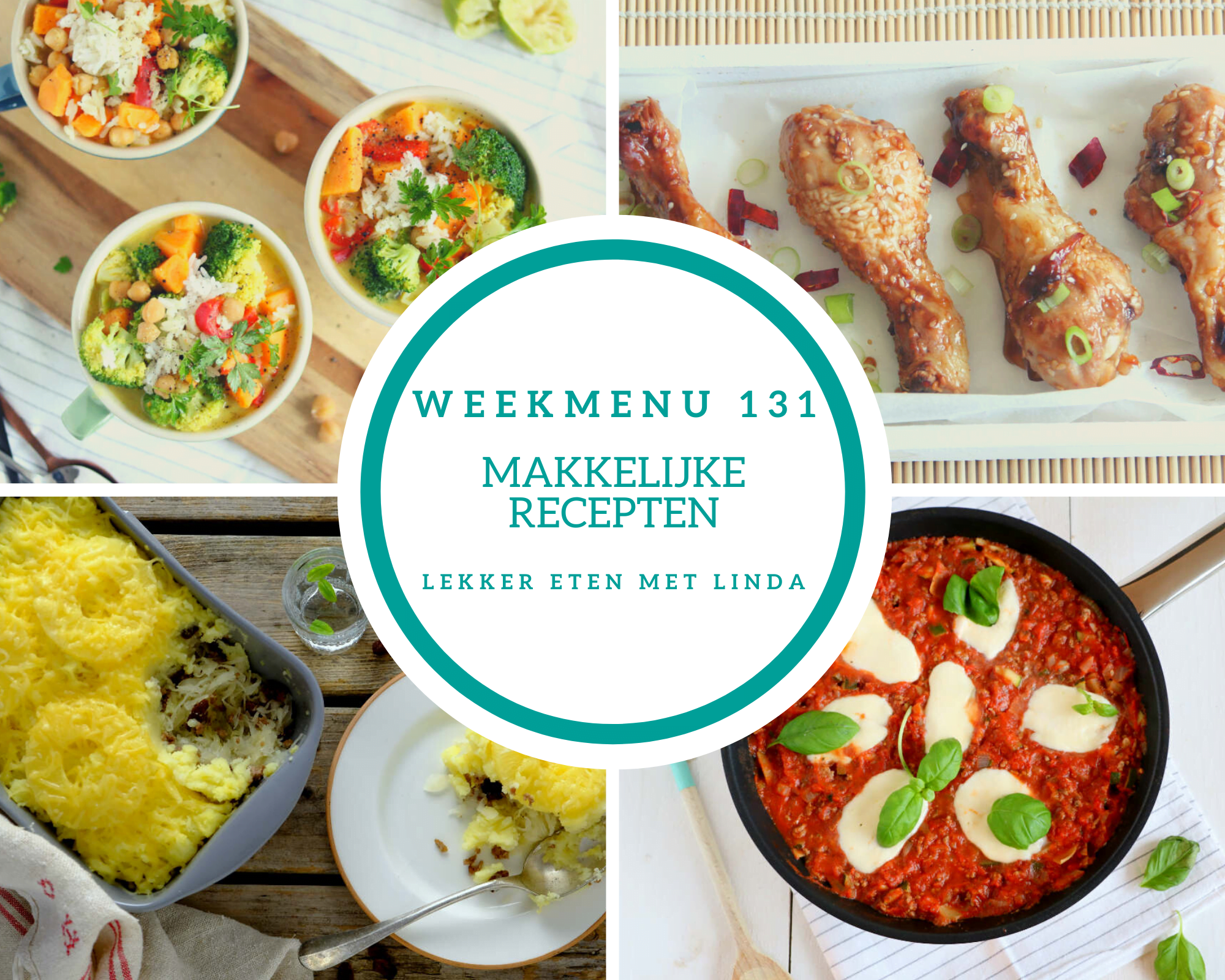 Weekmenu 131 makkelijke recepten