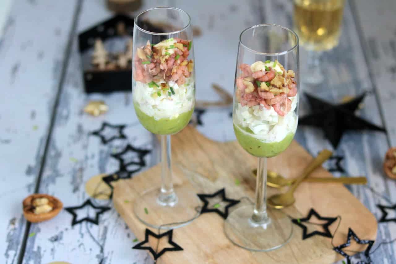 Amuse Hollandse garnalen in een glaasje