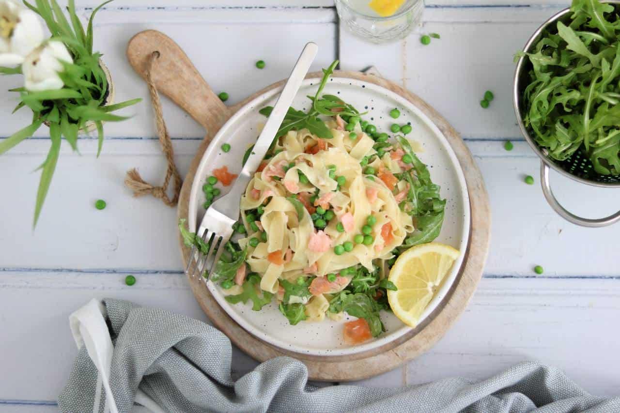Lekker eten met Linda – pasta met zalm