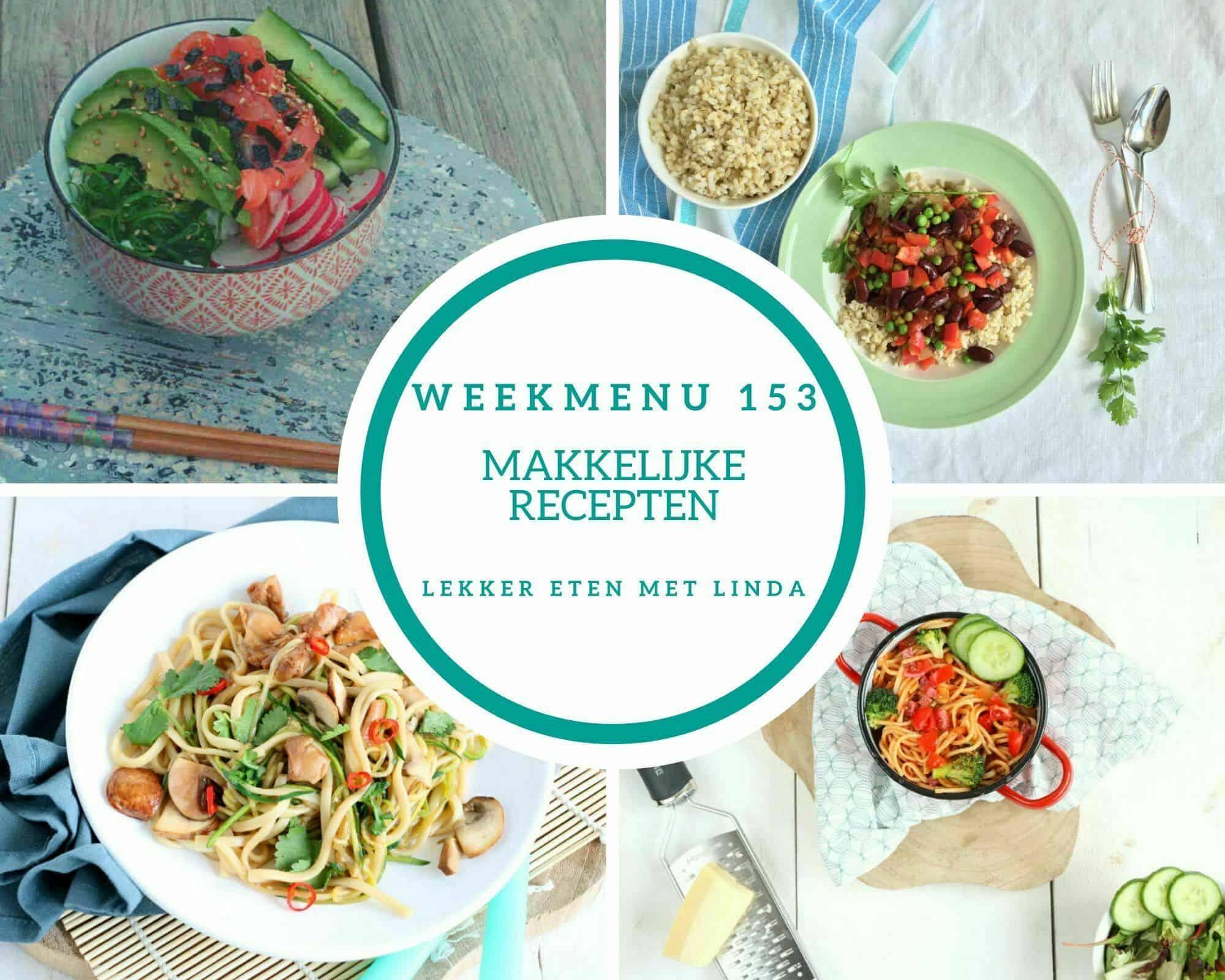 Weekmenu 153 makkelijke recepten voor het hele gezin