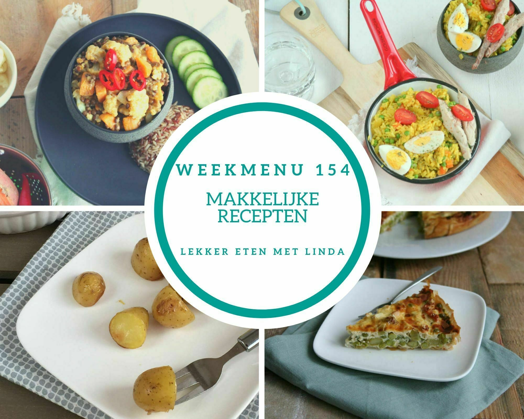 Weekmenu 154 makkelijke recepten