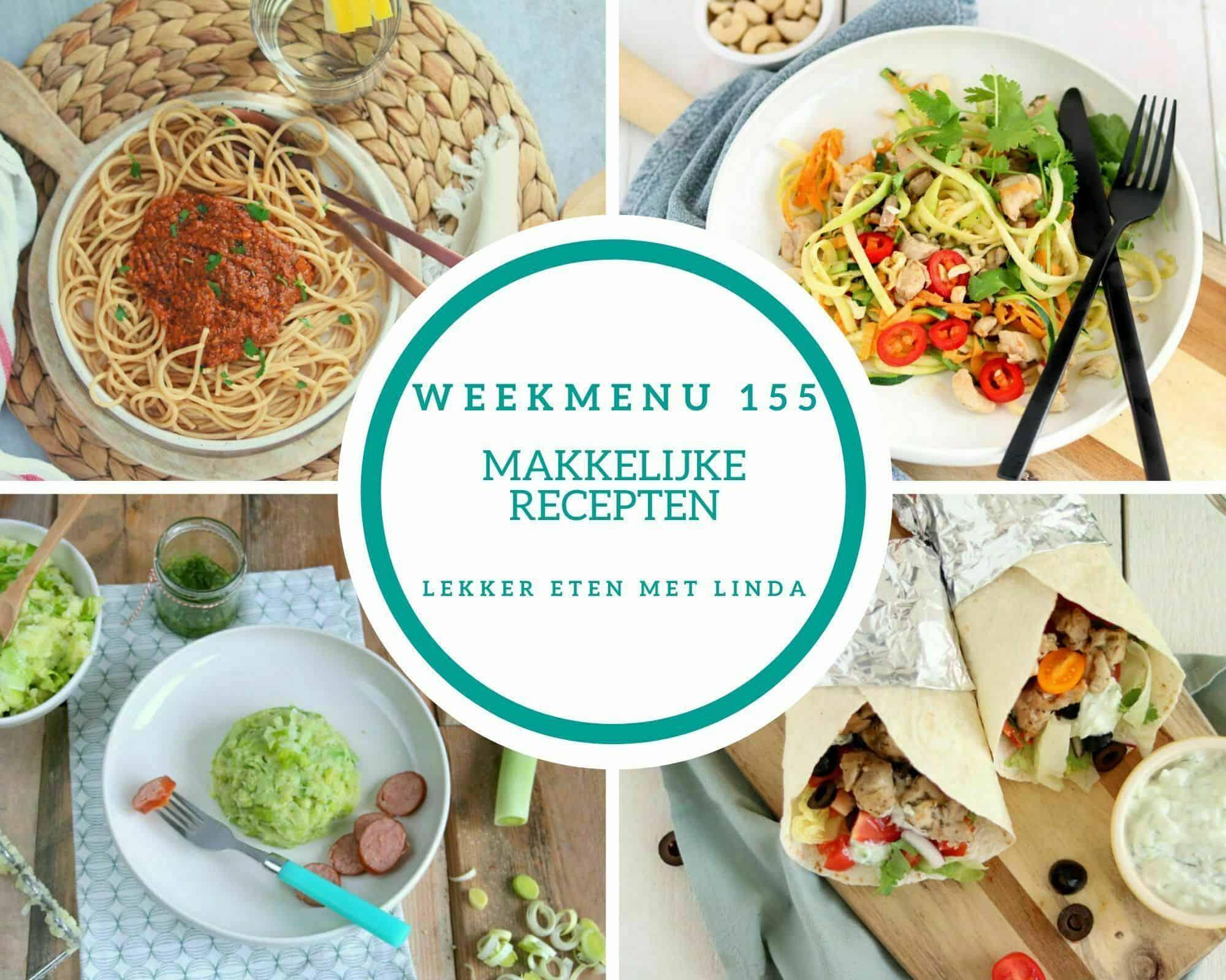 Weekmenu 155 makkelijke recepten