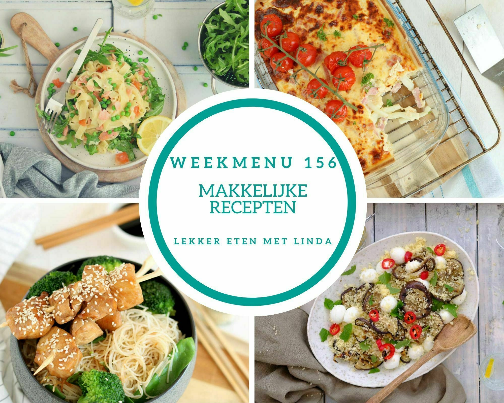 Weekmenu 156 makkelijke recepten