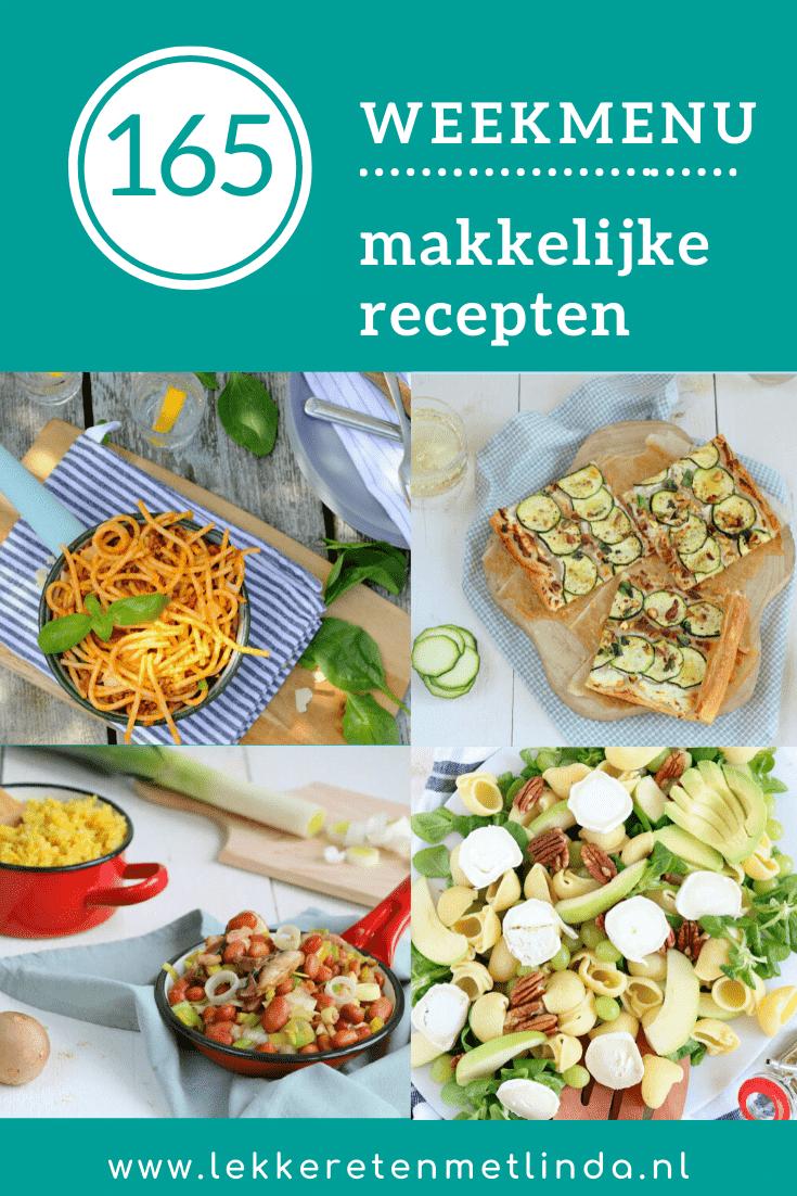 Weekmenu recepten voor het hele gezin.
