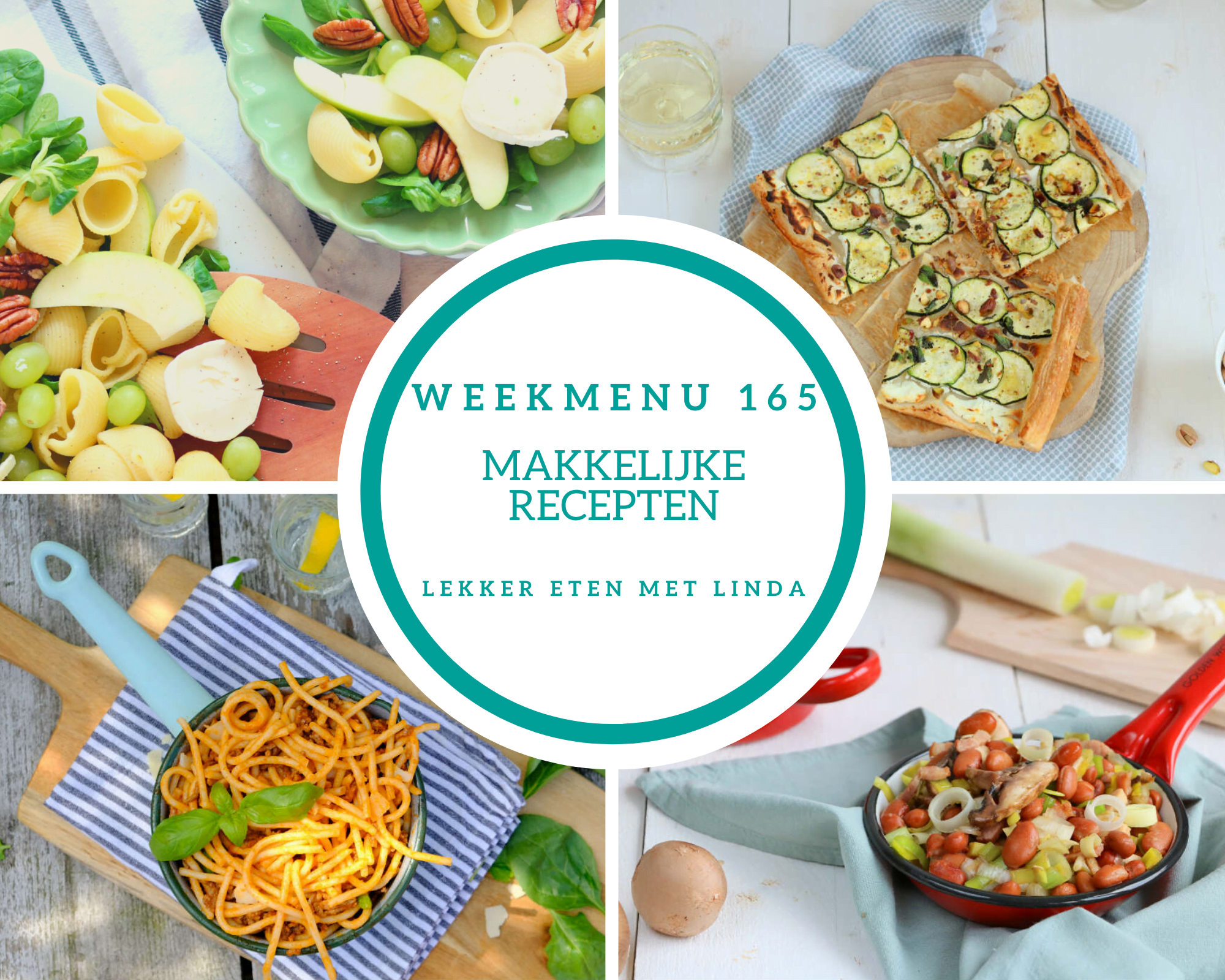 Weekmenu 165 makkelijke recepten