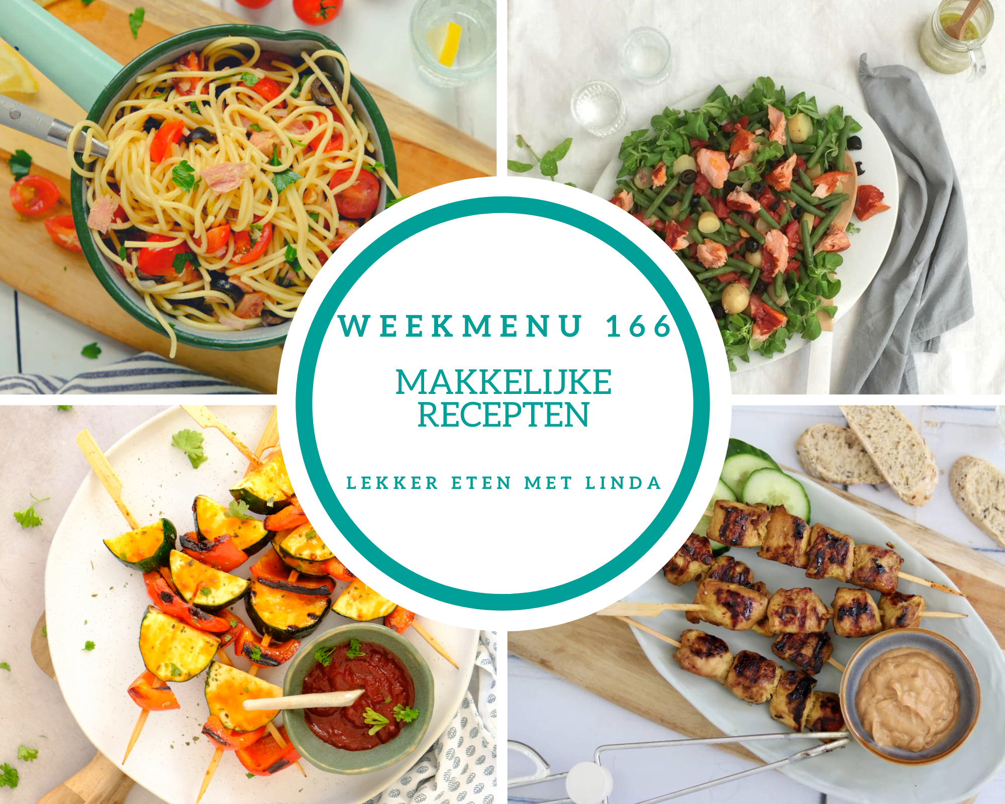 Weekmenu 166 makkelijke recepten