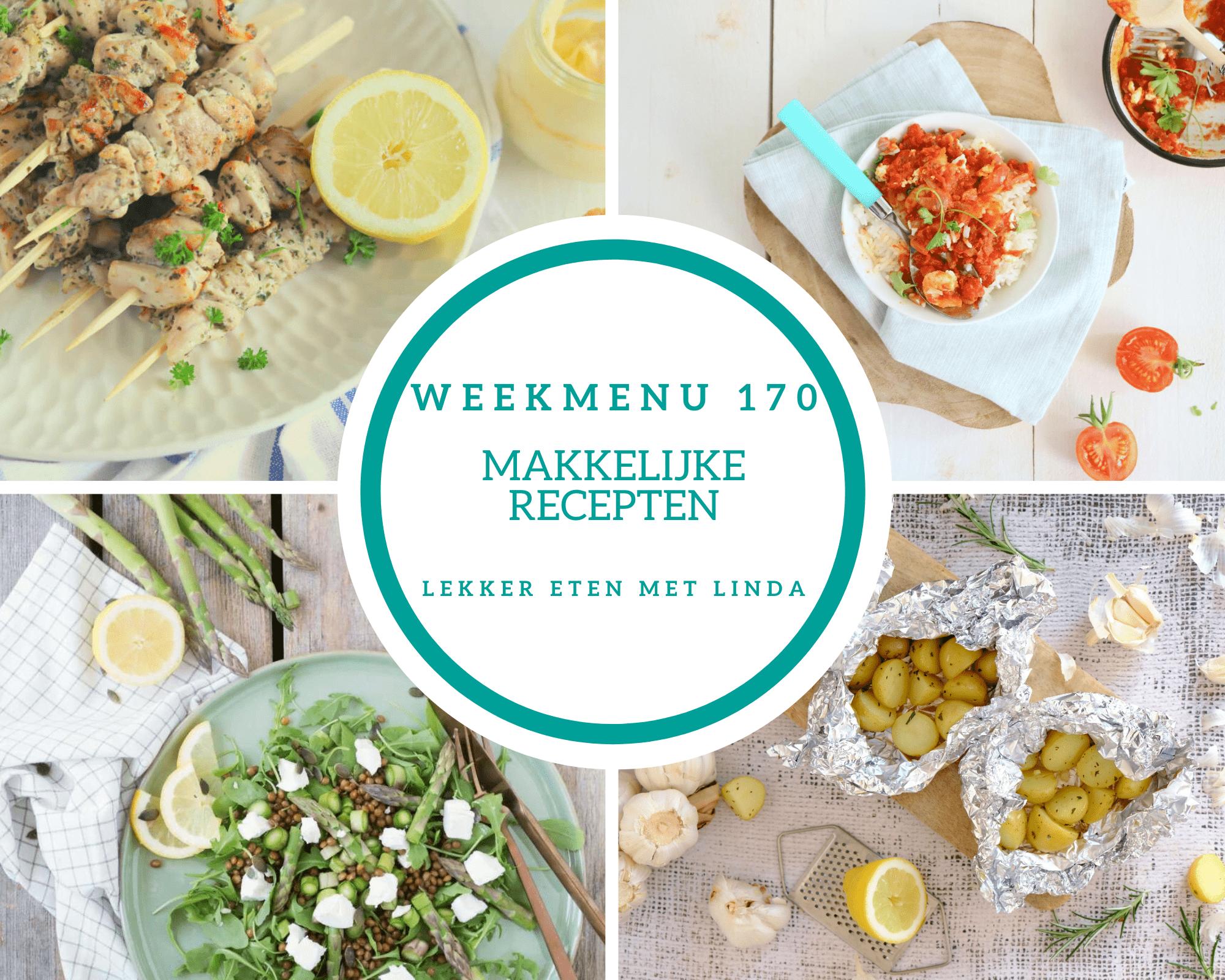 Weekmenu 170 makkelijke recepten