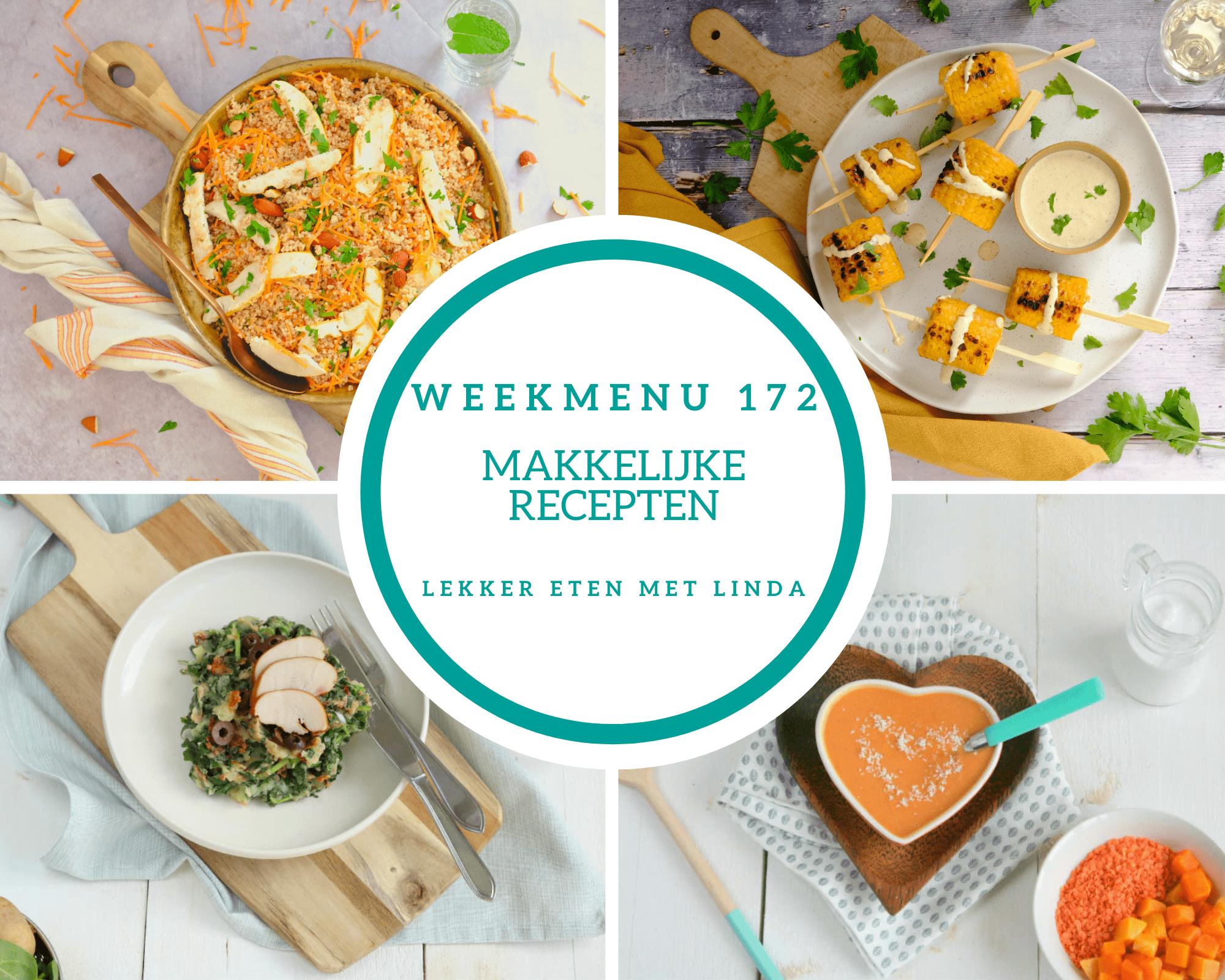 Weekmenu 172 makkelijke recepten