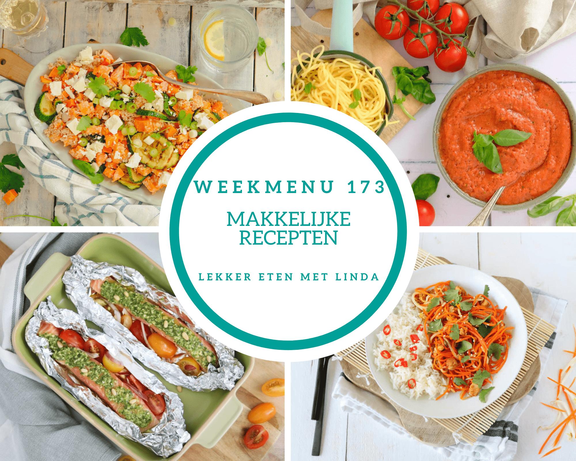 Weekmenu 173 makkelijke recepten