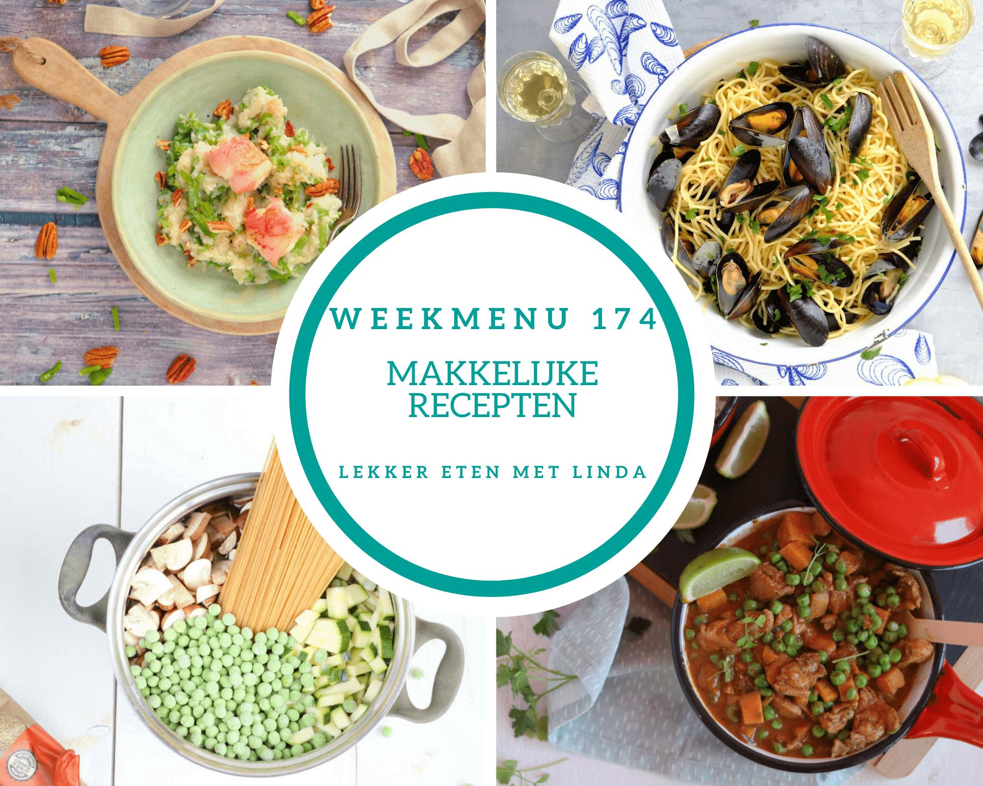 Weekmenu 174 makkelijke recepten