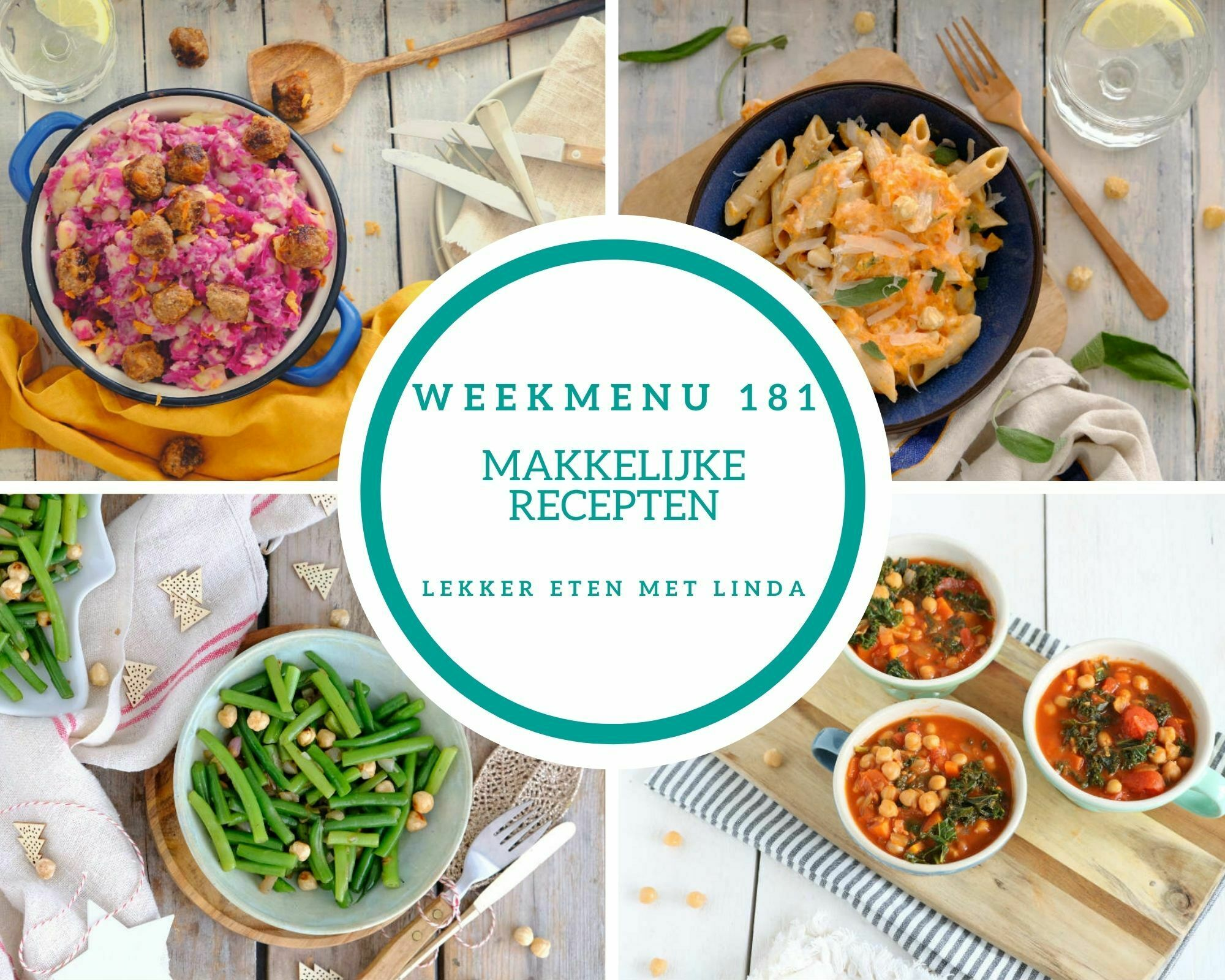 Weekmenu 181 makkelijke recepten