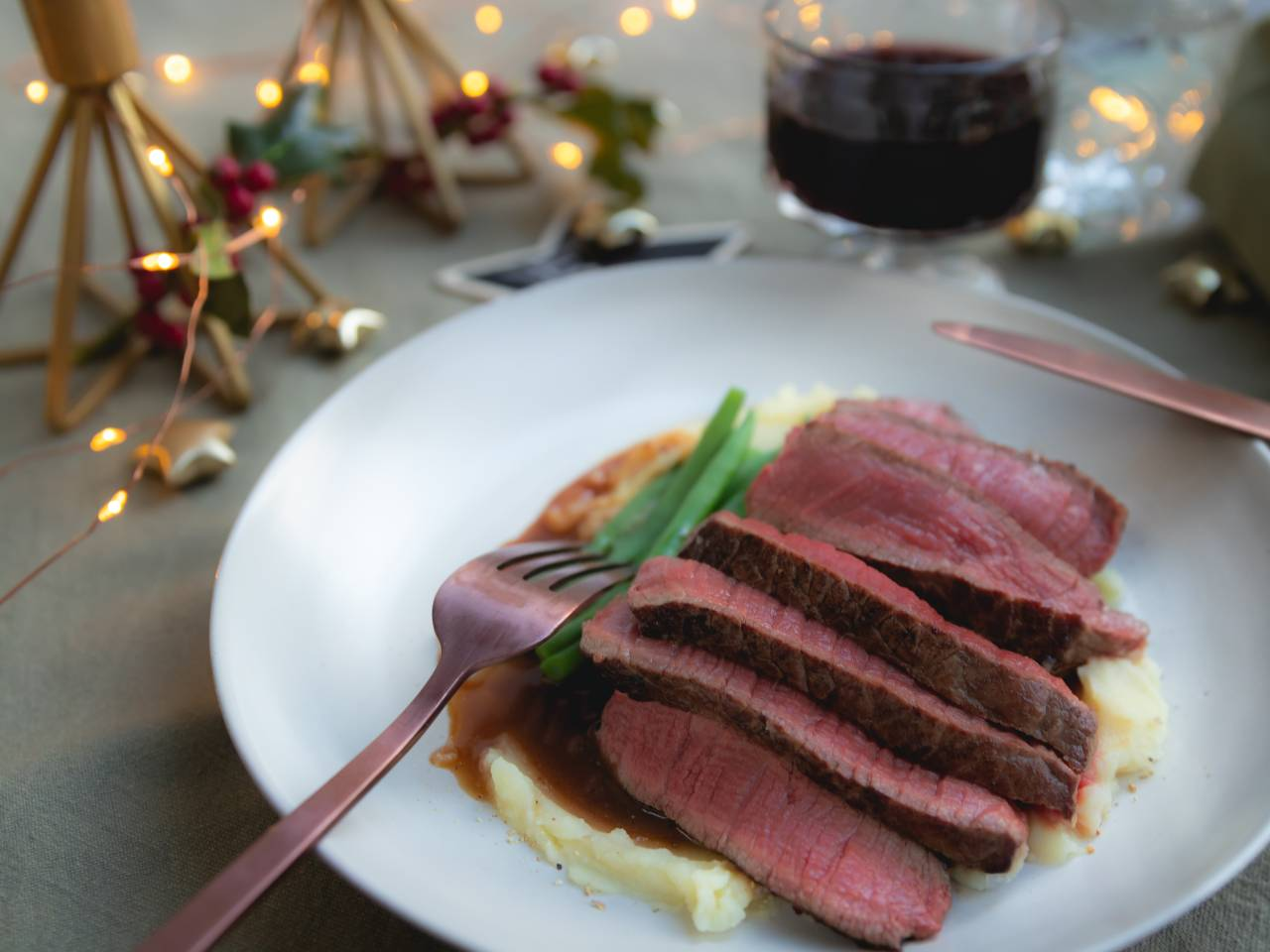 Biefstuk met sherrysaus