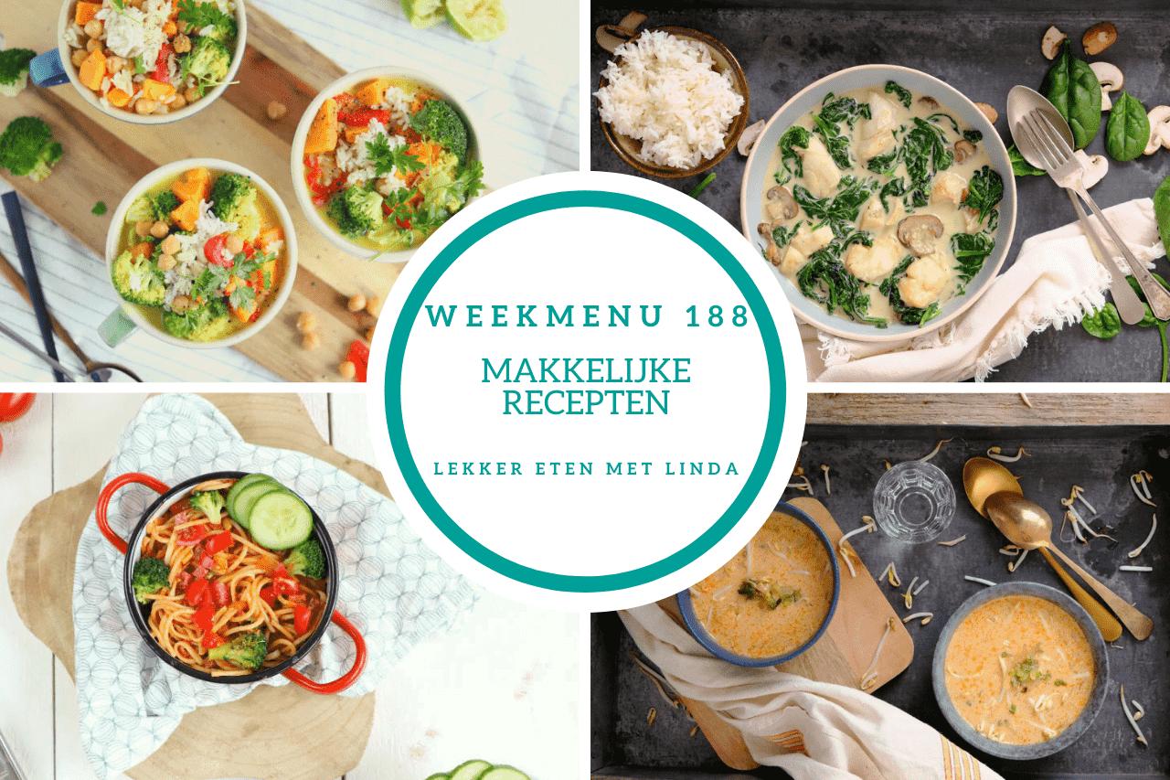 Weekmenu 188 makkelijke recepten voor het avondeten