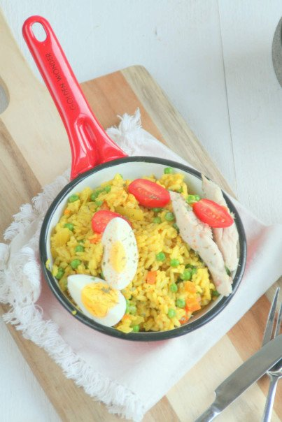 Kedgeree met makreel