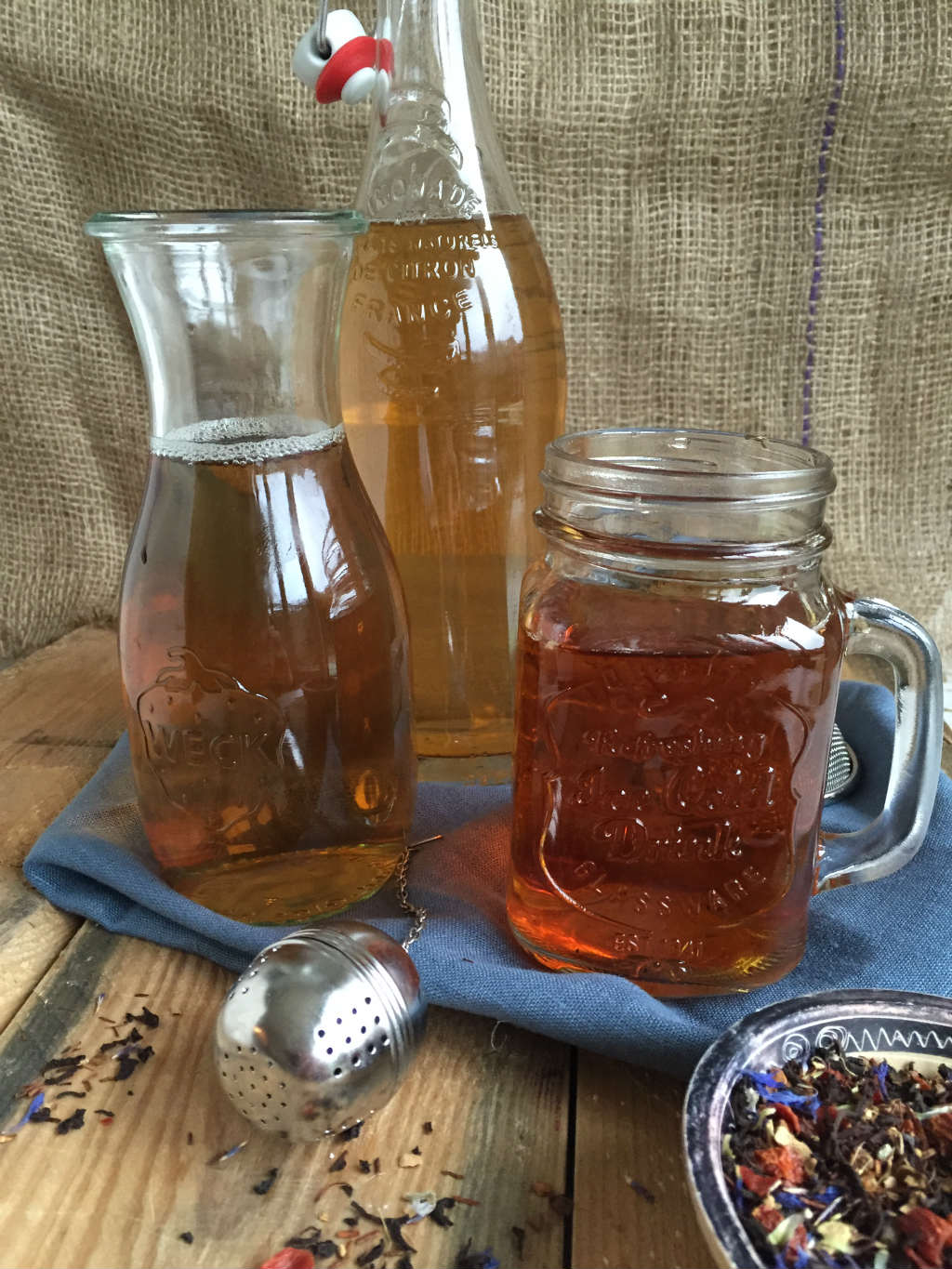 Winterse ijsthee cold brew ice tea
