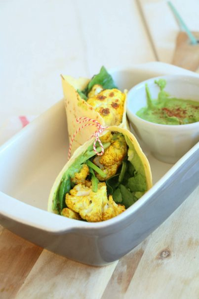 bloemkool curry wraps