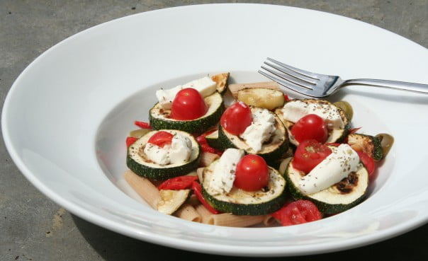 courgette geitenkaas salade