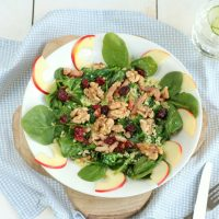 Couscous spinazie salade