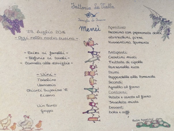 la vialla lunch menu