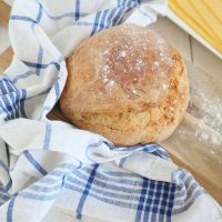 No knead bread recept in een pan