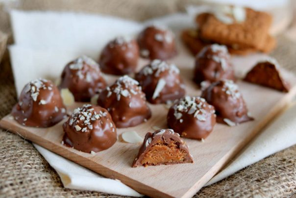 salted caramel speculaas truffels